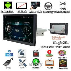 10.1In 1DIN HD Touch Screen Car Bluetooth Stereo Radio GPS Sat Navi MP5 Player