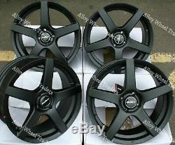 15 Black Pace Alloy Wheels Ford B max Cortina Courier Ecosport Escort 4x108