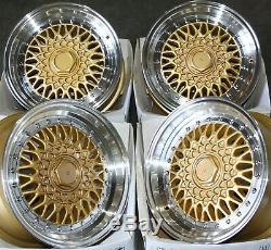 15 Gold RS Alloy Wheels For Ford B max Cortina Courier Ecosport Escort 4x108
