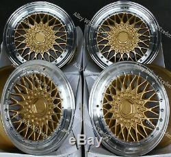 16 Gold RS Alloy Wheels For Ford B max Cortina Courier Ecosport Escort 4x108