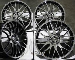 17 Black P Motion Alloy Wheels Fits Ford Escort Focus Ka Puma Sierra 4x108