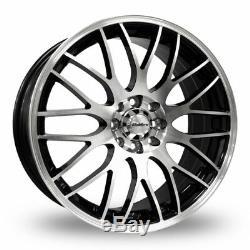 17 Black P Motion Alloy Wheels Fits Ford Escort Focus Ka Puma Sierra 4x108