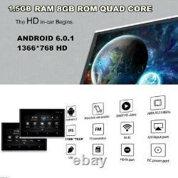 2X10.1 Quad-Core Car Touch Screen Headrest Monitors HD Android 6.0 BT HDMI FM