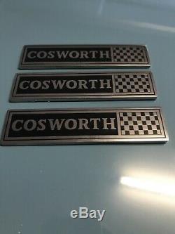 3 Cosworth Badges Metal Ford Escort Cortina Sierra