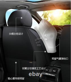 4-Season Universal PU Seat Cushion Car Seat Covers Full Set Interior Accessories