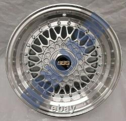 4x New 15 Inch Alloy Wheels Alloys Bbs Rs Rep Ford Escort Cortina Fiesta 4x108
