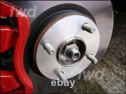 5mm Hub Centric Alloy Wheel Spacers For Ford 4x108 Pcd 63.4 Pair Shims 2hx