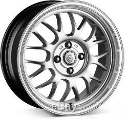 Alloy Wheels (4) 6.5x15 Cades Eros Silver 4x108 et35