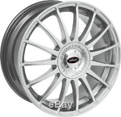 Alloy Wheels (4) 6.5x15 Team Dynamics Monza R Silver 4x100/108 et38