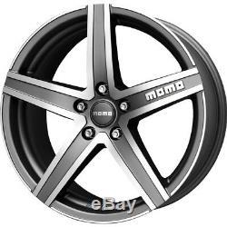 Alloy Wheels (4) 7.0x17 Momo Hyperstar Evo Grey Polished Face 4x108 et40
