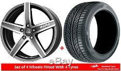 Alloy Wheels & Tyres 7.0x17 Momo Hyperstar Evo Grey Pol + 2054017 Economy Tyres