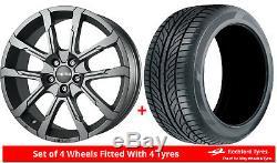 Alloy Wheels & Tyres 7.0x17 Momo Quantum Grey Matt + 2054017 Economy Tyres