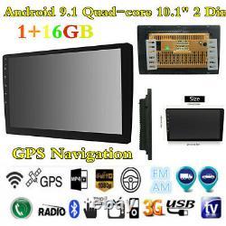 Android 9.1 Quad-core 10.1 2Din Car Stereo Radio GPS Navi Wifi USB Mirror Link
