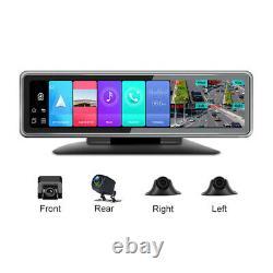 Car 12in 4G Android 9.0 4CHs Recorder Dashbaord Cam WIFI ADAS Cam Video HD 2+32G