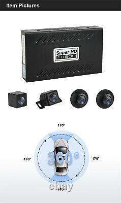 Car 360° Seamless Panoramic Monitoring System 4 Waterproof Cameras+Shock Sensor
