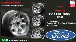 Cerchi Minilite 8j 13 pollici Ford Escort Capri Cortina Taunus TC wheels felgen