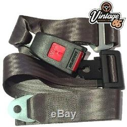 Classic Ford Front Pair Fully Automatic Inertia Grey Seat Belt Kits E Approved