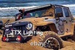 Ford Cortina Mk1 Mk2 Escort LED Halo 7 Headlights Flash AMBER