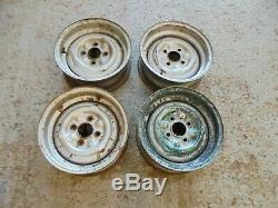 Ford Cortina mk1 Lotus Steel Wheels. Genuine Ford. Escort mk1 Twincam etc