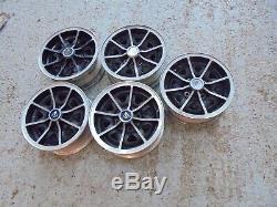 Ford Dunlop Alloys. Original set of 5 very rare suit Cortina/Anglia /escort etc
