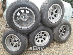 Ford Escort Alloy Wheels, MEGA Rare, EXACTON. Fit Anglia. Cortina