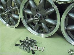 Ford Escort Capri Cortina 5.5x13 Alloy Wheel Set Jbw Minilight Style 13x5.5