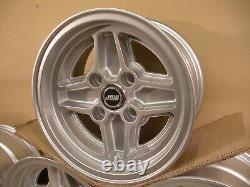 Ford Escort Capri Cortina 7x13 Alloy Wheel Set Jbw Rs4 Spoke Style Silver 13x7