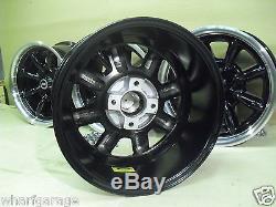 Ford Escort Capri Cortina 8x15 Deep Dish Alloy Wheel Set Jbw Minilight Style