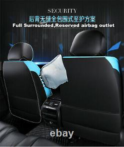 Luxury PU Leather Four Seasons Full Car Seat Cover Cushion Pad Set withHeadrests