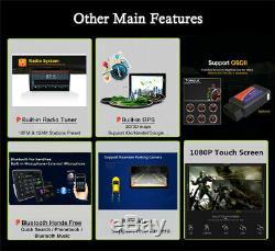 Quad-Core Android 9.0 Single Din 10.1 Car GPS Wifi Stereo Radio RAM 1GB ROM 16G