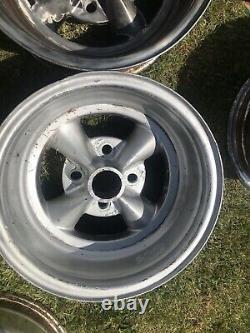 Rare Ford 4x108 Rocket Racing Wheels 13x7 Hotrod Custom Appliance Cortina Escort