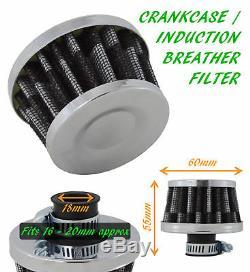 UNIVERSAL OIL MINI BREATHER AIR FILTER FUEL CRANKCASE UN1108-18 MM-Ford 1