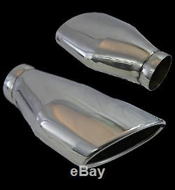 UNIVERSAL STAINLESS STEEL EXHAUST TAILPIPE 3 INLET YFX-0235-Ford 1