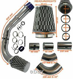 Universal Performance Cold Air Feed Induction Intake Kit Carbon Chrome Frd1