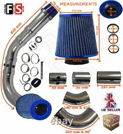 Universal Performance Cold Air Feed Pipe Air Filter Kit Blue 2103bf-frd1