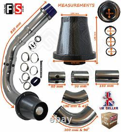 Universal Performance Cold Air Feed Pipe Air Filter Kit Carbon 2103cr-frd1