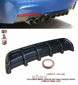 Universal Rear Bumper Diffuser Spoiler Wings Valance Carbon Fibre-frd1