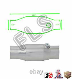 Universal T304 Stainless Sports Cat Catalytic Converter 2.25 Inch 200 Cell-frd1