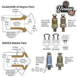 Volkswagen Golf DIN 3/16 Copper Nickel Cunifer Brake Pipe Line Restoration Kit